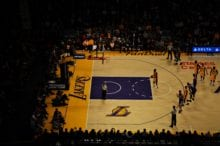 NBA game featuring the LA Lakers and Kobe Bryant
